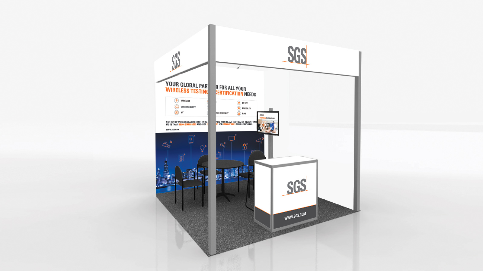 Exhibition stand artwork